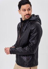 INDICODE JEANS - ECKROTE - Faux leather jacket - black - 3