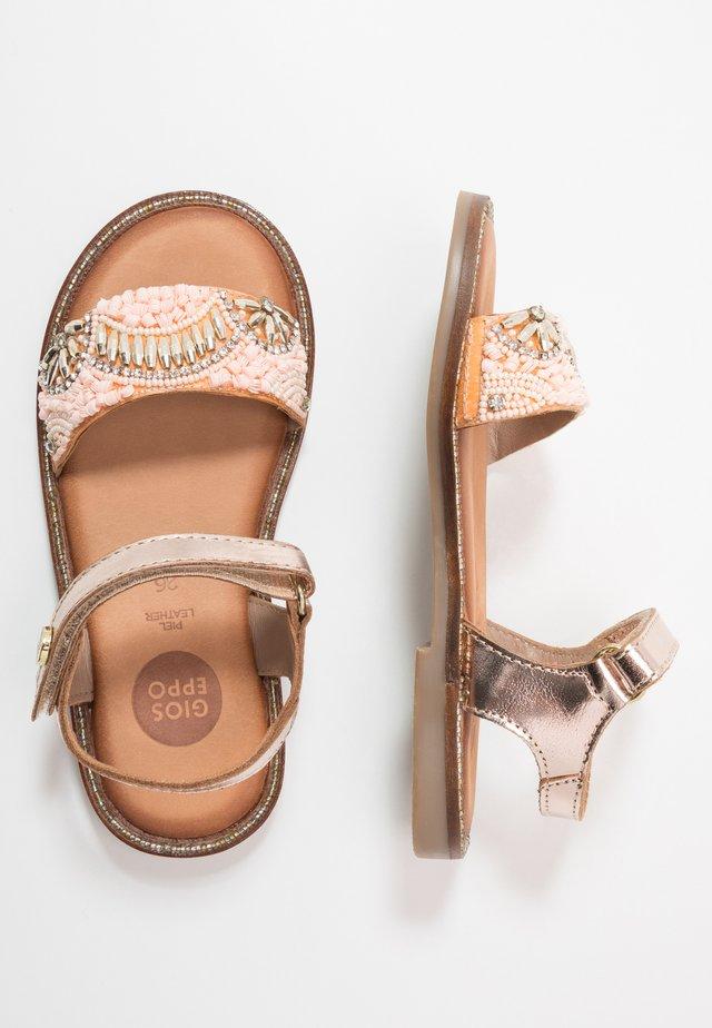 MALMAISON - Sandals - cobre