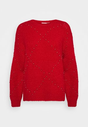 OVERSIZED STUDS - Sweter - red