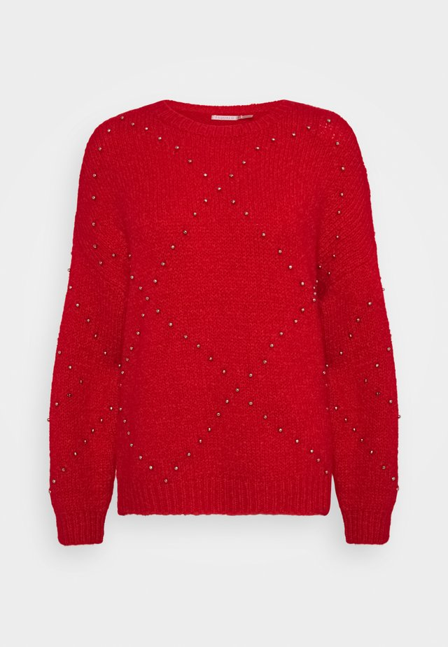 OVERSIZED STUDS - Maglione - red