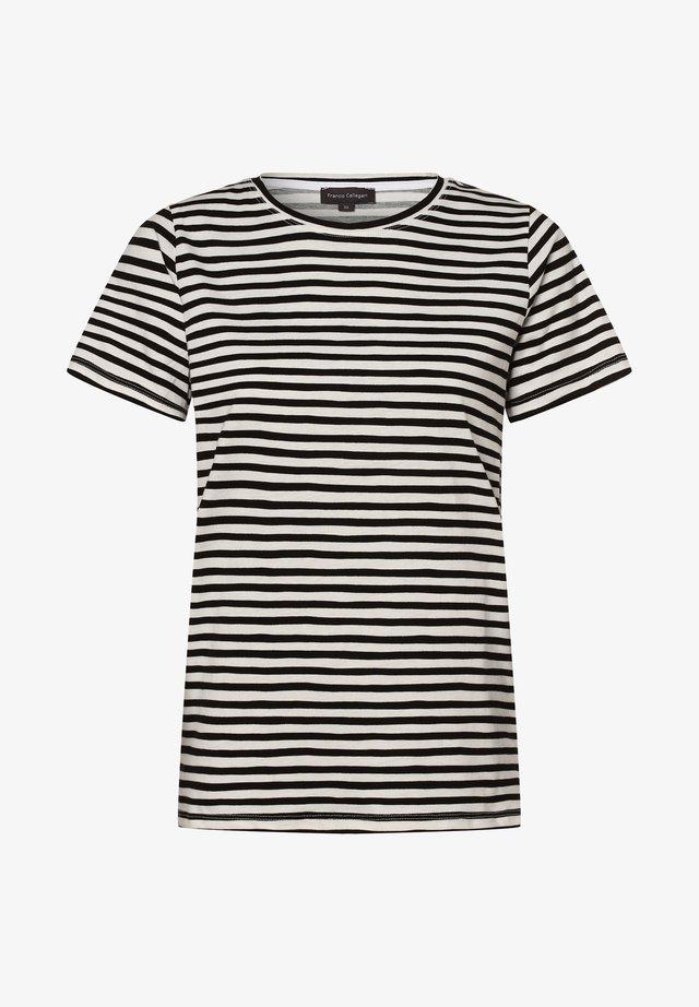 Print T-shirt - schwarz weiß