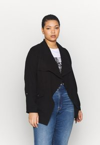 Dorothy Perkins Curve - SHORT WATERALL JACKET - Summer jacket - black - 0