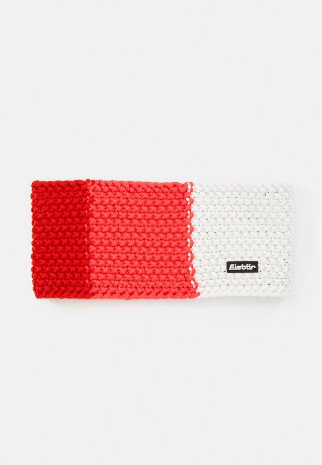 JAMIES FLAG  - Ørevarmere - fieryred/divapink/white