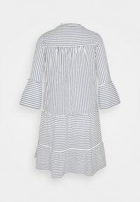 Vero Moda Tall - VMHELI 3/4 SHORT DRESS TALL - Day dress - snow white/navy blazer - 1