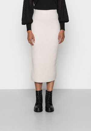VOLVIC MIDI SKIRT - Pencil skirt - cream