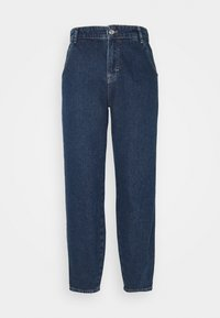 ONLTROY LIFE CARROT - Relaxed fit jeans - dark blue denim