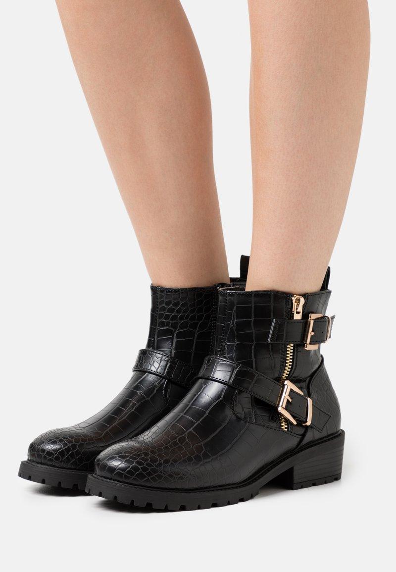 New Look Wide Fit - WIDE FIT CARLEY - Kovbojské/motorkářské boty - black