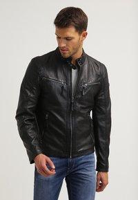 Gipsy - COBY - Leather jacket - schwarz - 0