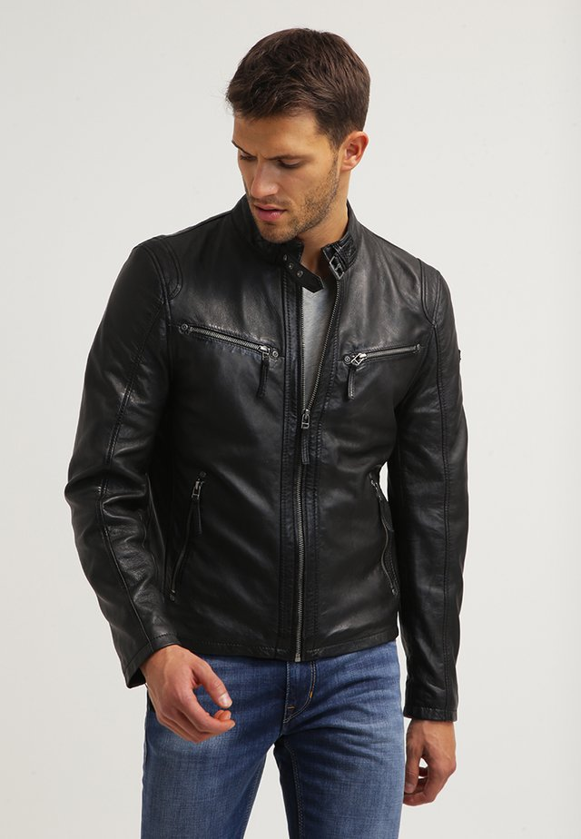 COBY - Leather jacket - schwarz