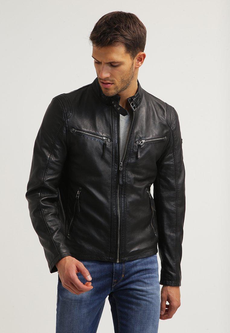 Gipsy - COBY - Leather jacket - schwarz