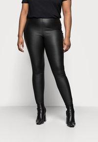 Pieces Curve - PCSKIN PARO CURVE - Trousers - black - 0