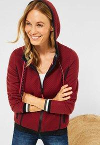 Cecil - MIT STRUKTUR - Zip-up sweatshirt - braun - 1