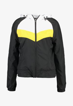 THREE TONE - Tuulitakki - black/white/chrome yellow
