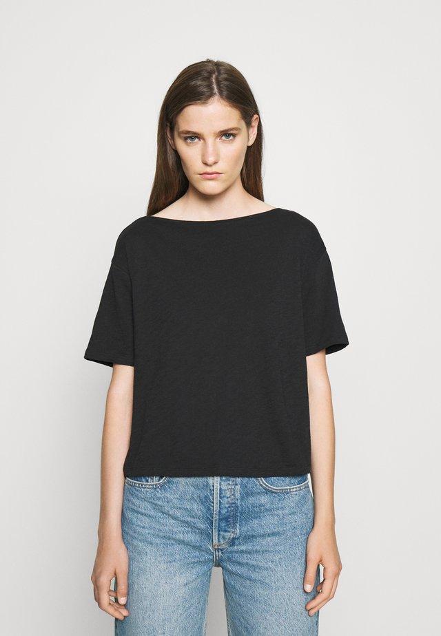 STRAIGHT TEE NEBULOU - Basic T-shirt - black
