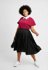 Fashion Union Plus - COLLARED BLOUSE - Bluse - solid bordeaux - 1