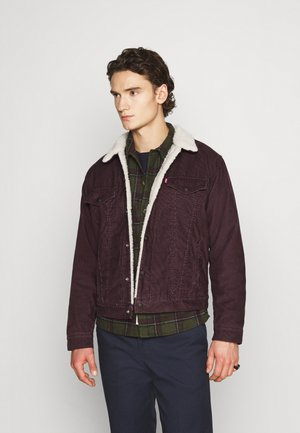 TYPE 3 SHERPA TRUCKER - Denim jacket - bordeaux, dark