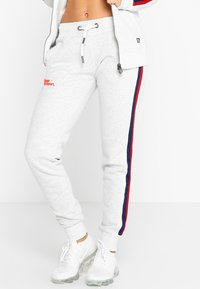 Superdry - DIAMOND LABEL  - Tracksuit bottoms - ice marl - 0
