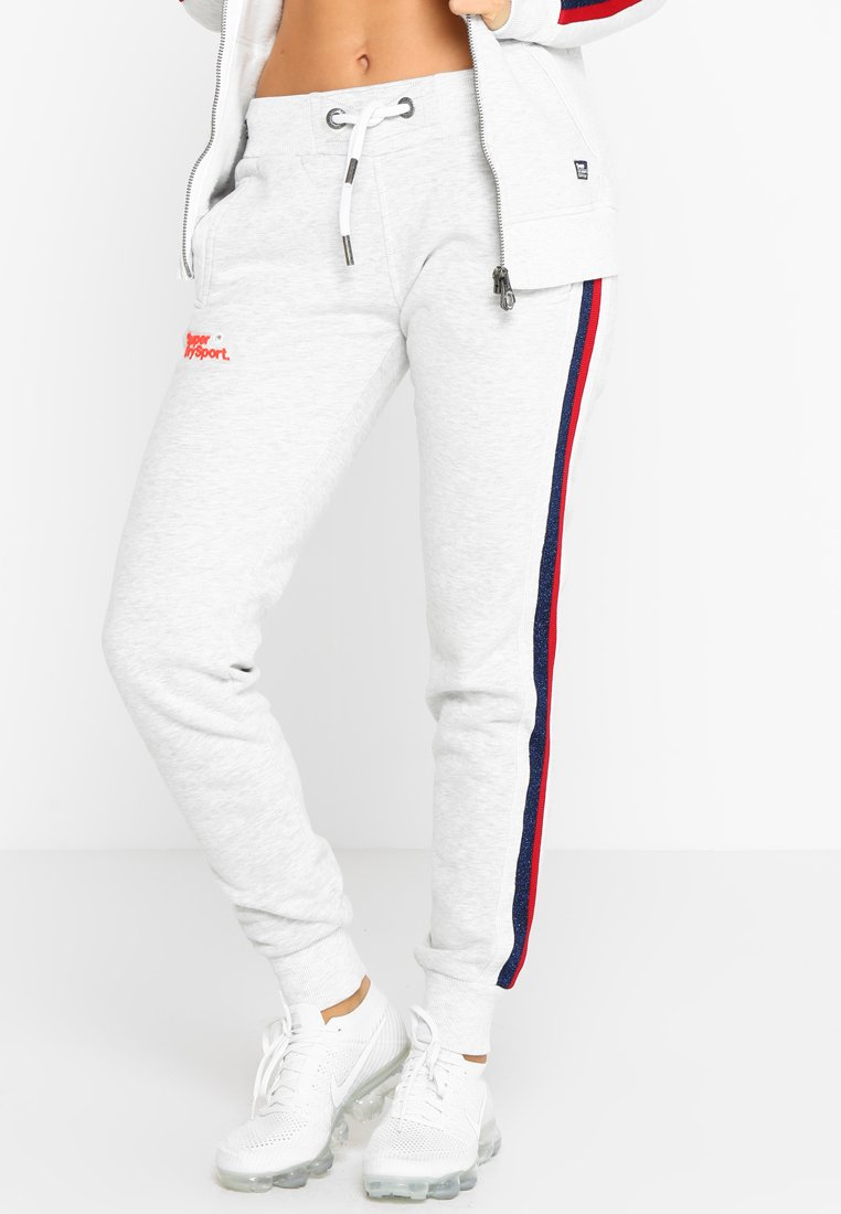 Superdry - DIAMOND LABEL  - Tracksuit bottoms - ice marl