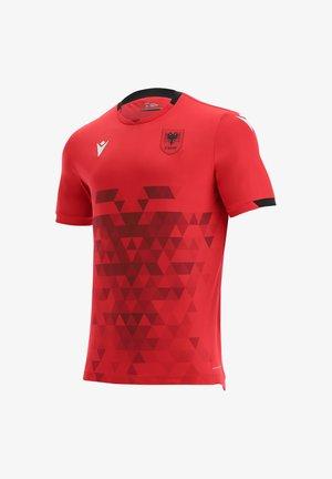 Print T-shirt - rotschwarz