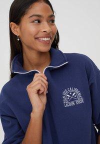 PULL&BEAR - Sweatshirt - mottled dark blue - 3