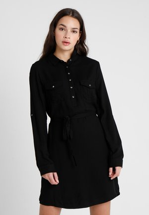 TAMMY LONG SLEEVE DRESS - Shirt dress - black