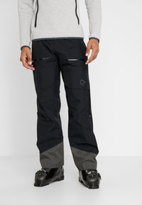 Norrøna - LOFOTEN GORE-TEX INSULATED PANTS - Spodnie narciarskie - caviar - 0