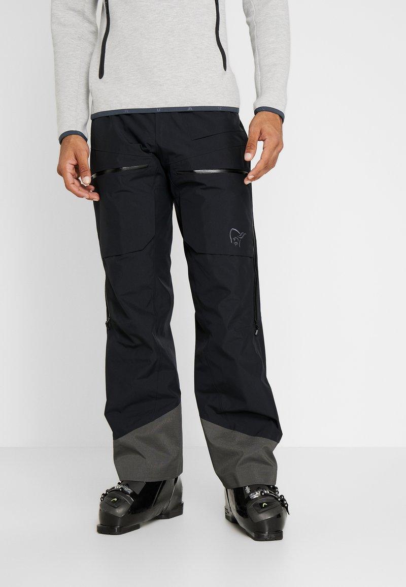 Norrøna - LOFOTEN GORE-TEX INSULATED PANTS - Spodnie narciarskie - caviar