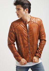 Freaky Nation - DYLAN - Leather jacket - burned orange - 0
