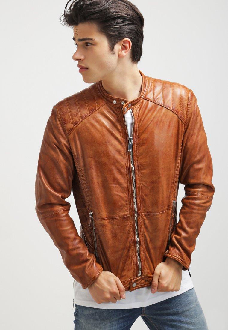 Freaky Nation - DYLAN - Leather jacket - burned orange