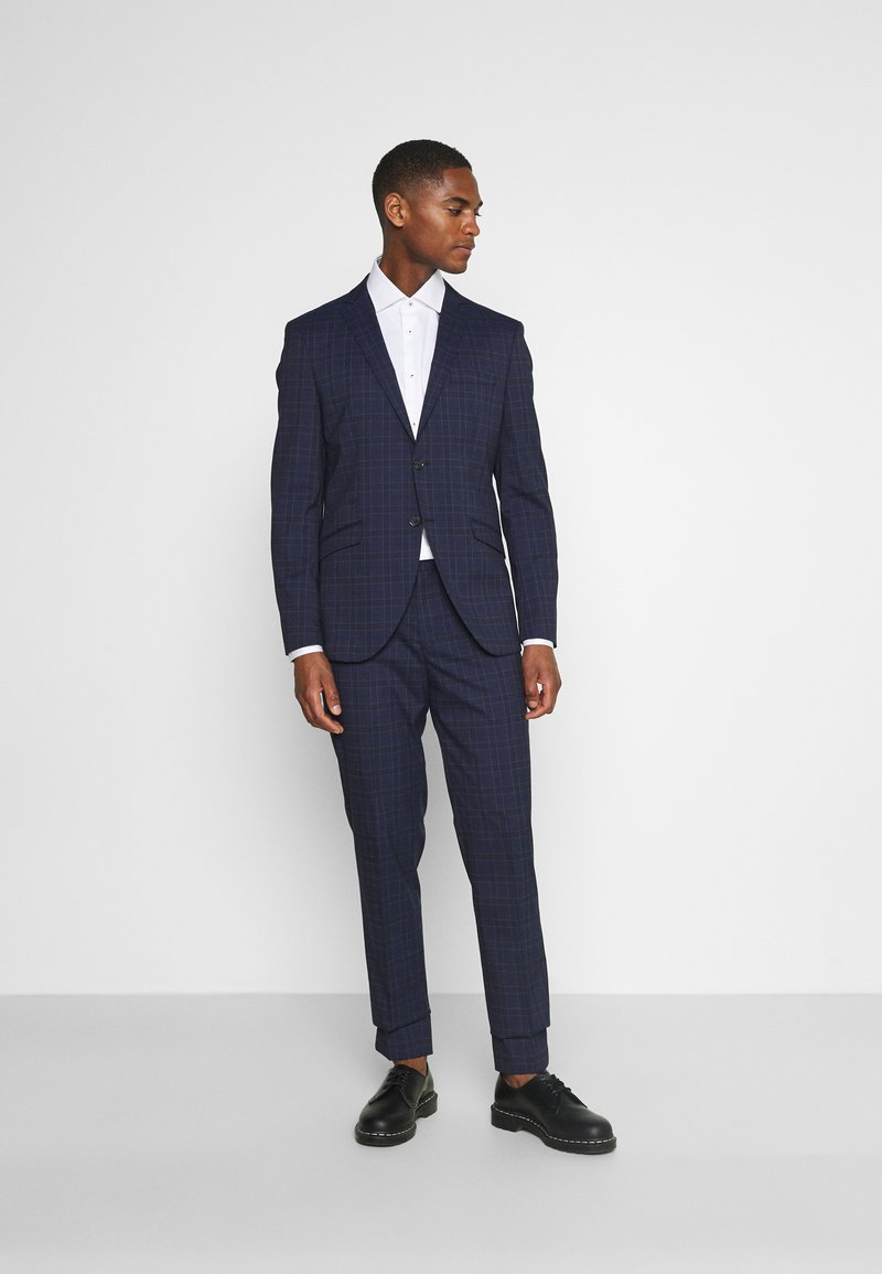 Selected Homme - SLHSLIM KYLELOGAN SET - Suit - navy blue/light blue
