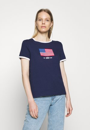 AMERICANA TEE - Camiseta estampada - new navy