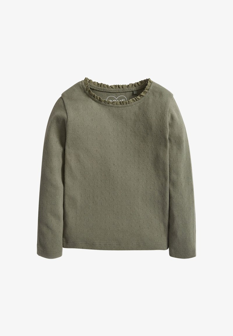 Next - BRUSHED POINTELLE - Long sleeved top - green