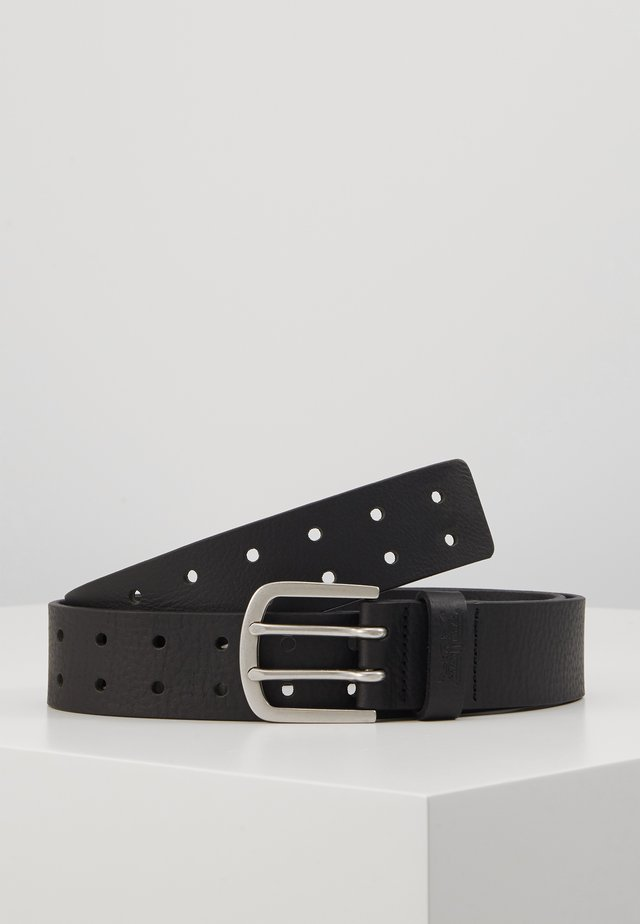 DOUBLE PRONG BELT - Pásek - black