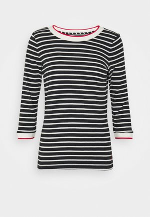 STRIPED - Topper langermet - black