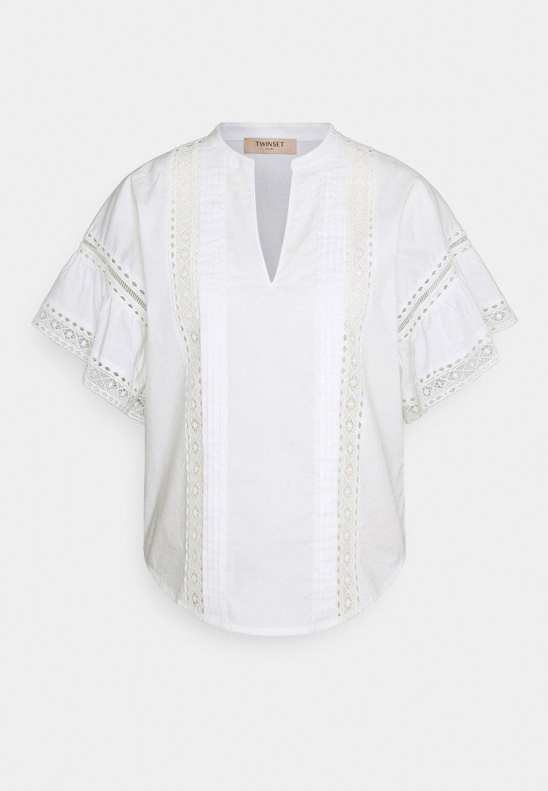 TWINSET - BLUSA DETTAGLI - Print T-shirt - bianco ottico