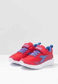 Diadora - FLAMINGO 4 - Neutral running shoes - true red/star sapphire - 3