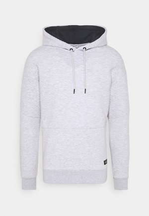 JCOBUTTON HOOD - Felpa con cappuccio - light grey melange