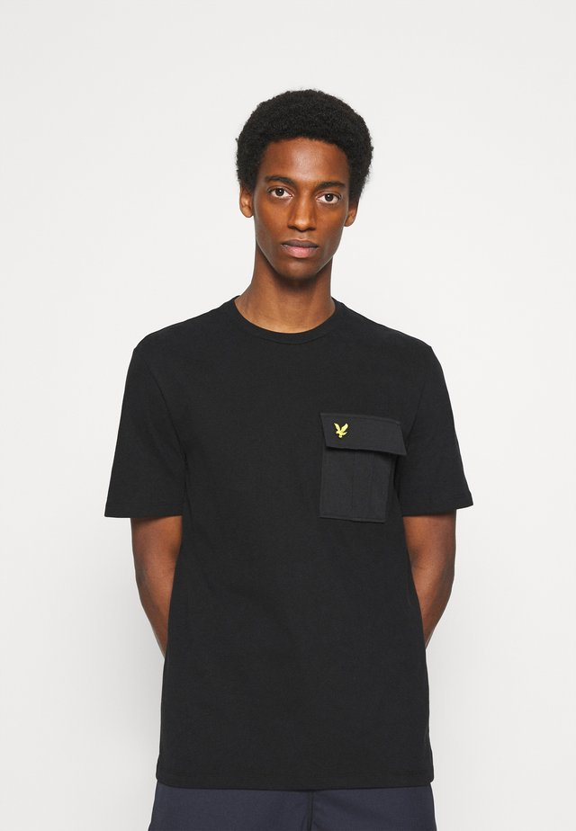 POCKET  - T-shirt con stampa - jet black