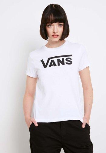 WM FLYING V CREW TEE - Print T-shirt - white