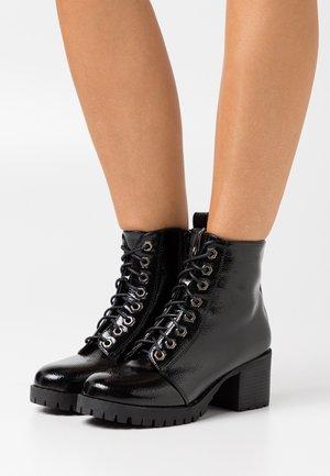 WIDE FIT MYRTLE - Lace-up ankle boots - black