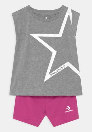 STAR CHEVRON RUFFLE SET - T-shirt print - grey heather