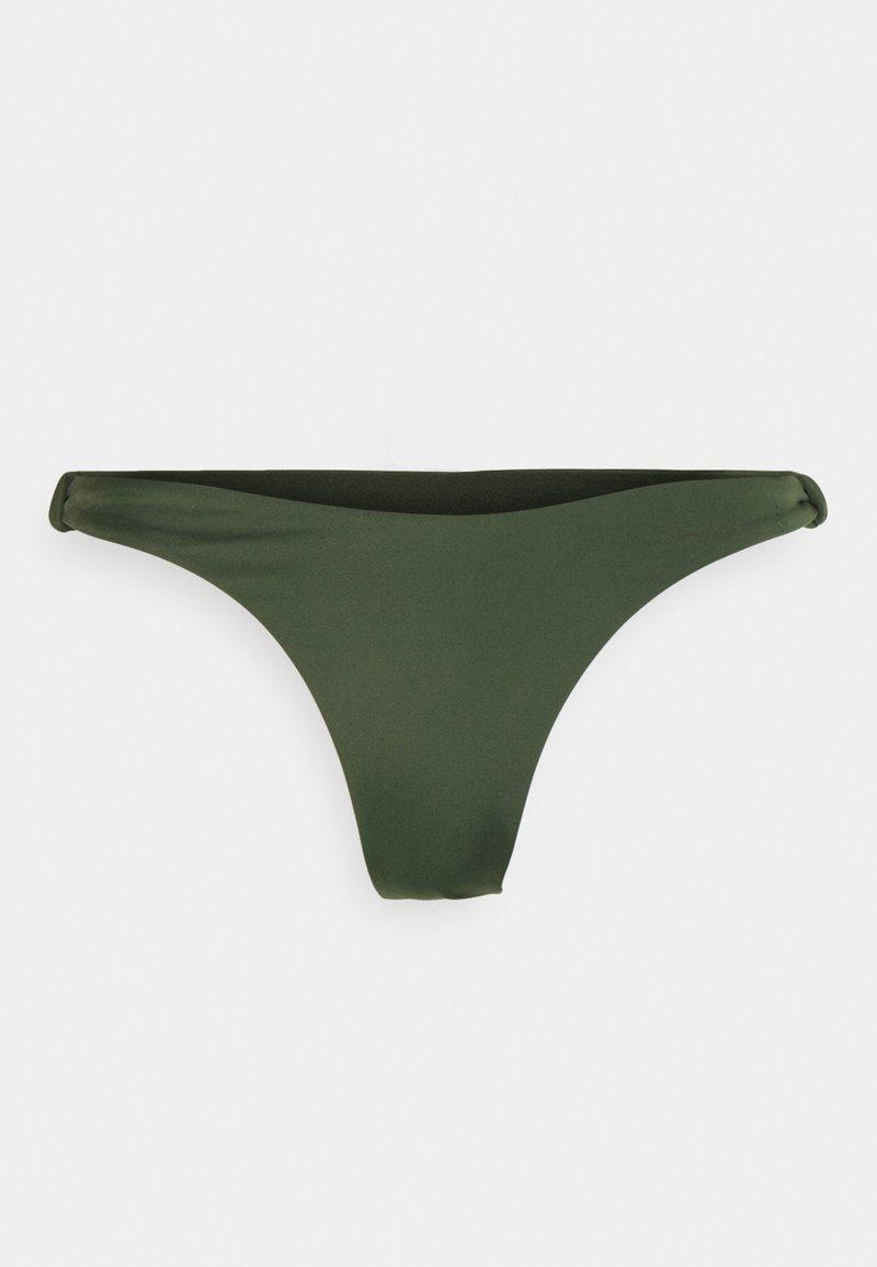 Hunkemöller - LUXE HIGHLEG - Bikini bottoms - khaki