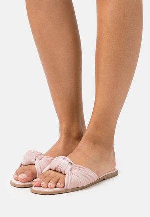 ONLMIA BOW SLIPPER - Slippers - nude