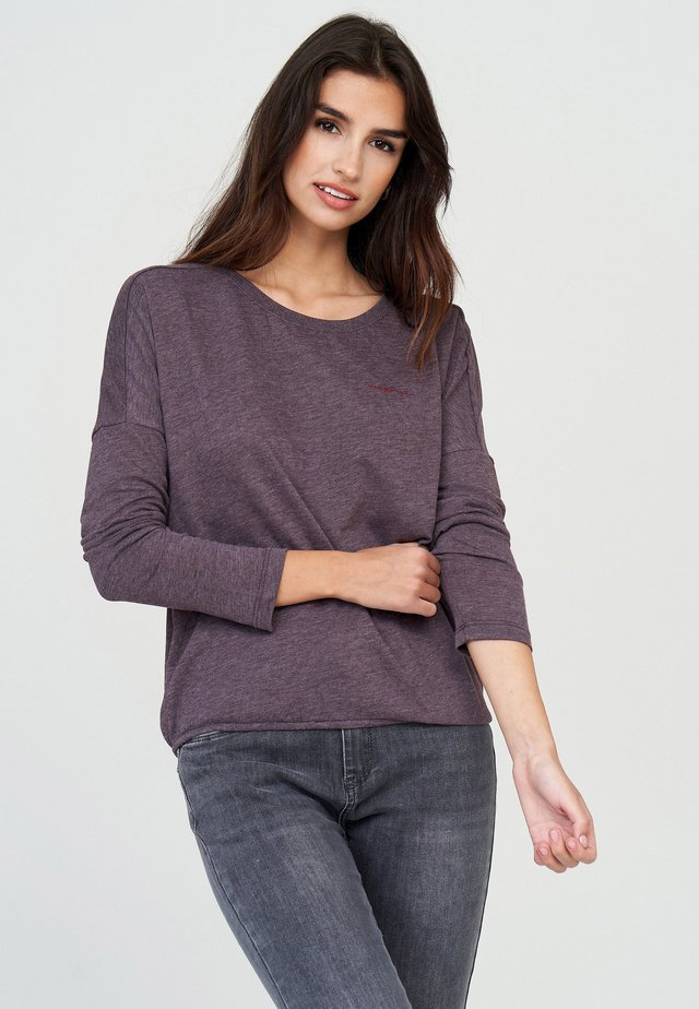 Long sleeved top - aubergine mel.