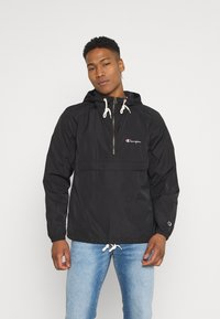 Champion Reverse Weave - HOODED JACKET - Větrovka - black - 0