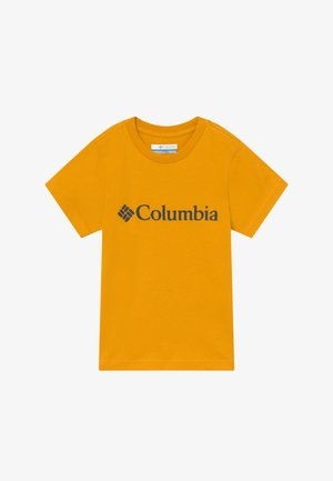 BASIC LOGO YOUTH SHORT SLEEVE - Print T-shirt - bright gold