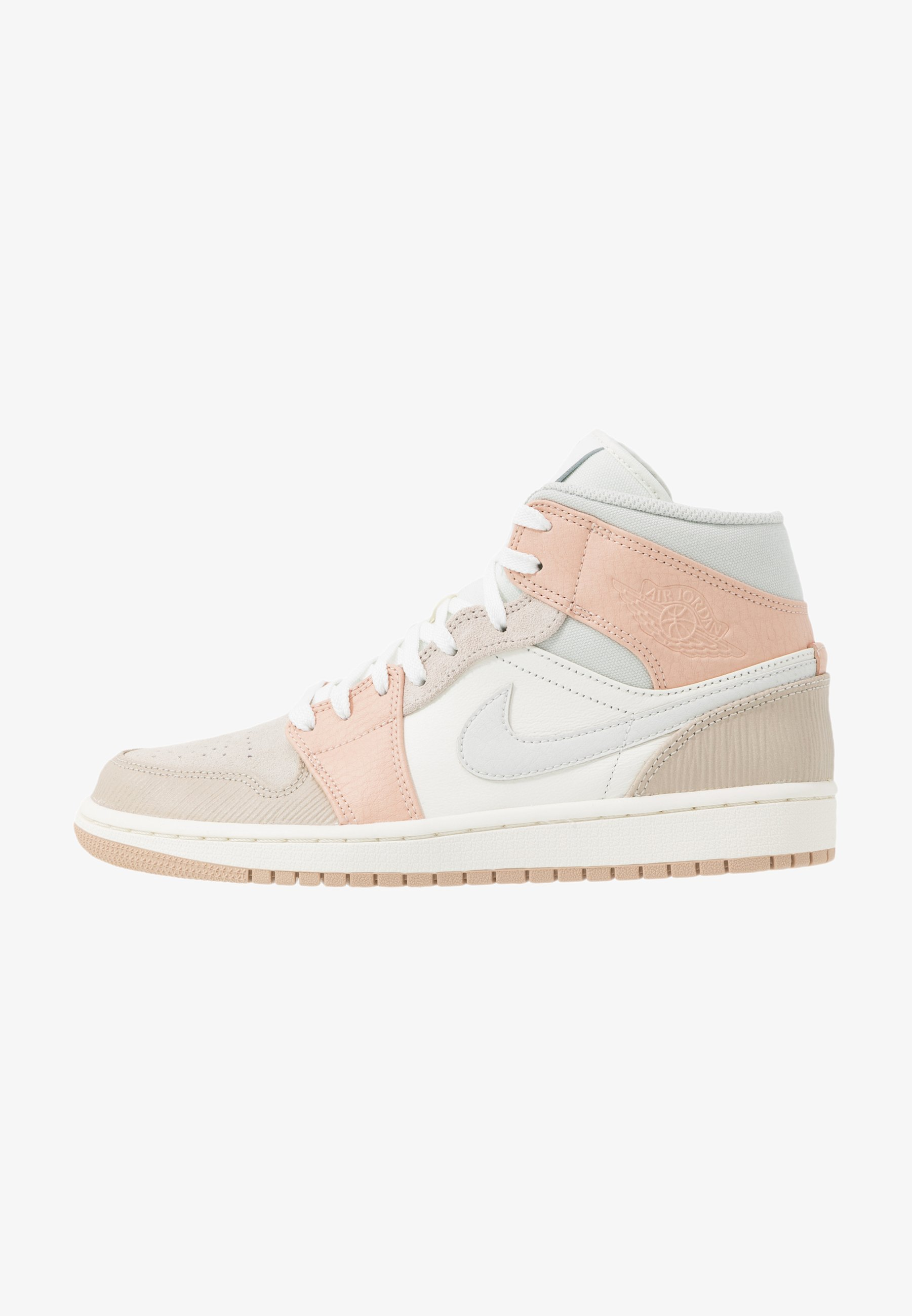 Jordan Air Jordan 1 Mid Zapatillas Altas Sail Light Bone String Shimmer Zalando Es
