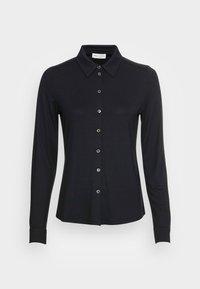 Marc O'Polo - BLOUSE LONG SLEEVE COLLAR BUTTON PLACKET - Button-down blouse - black - 3