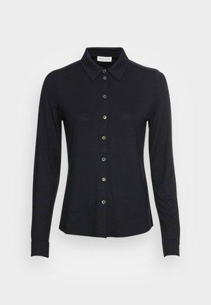 BLOUSE LONG SLEEVE COLLAR BUTTON PLACKET - Skjorte - black
