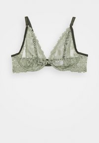 Women Secret - GUIPURE - Triangle bra - light khaki - 0